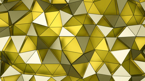 Low poly layered yellow surface seamless loop 3D render animation Animation