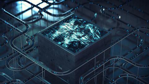 Waveform processing system seamless loop 3D render animation Animation