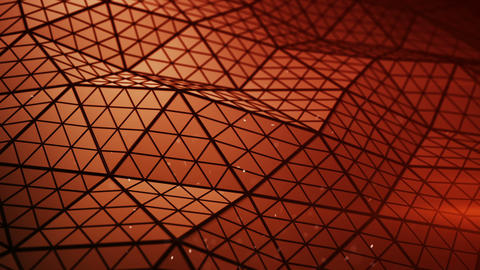 Red low poly shape seamless loop 3D render animation Animation