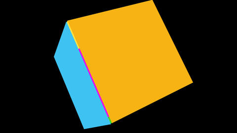 Colorful cube rotating Animation