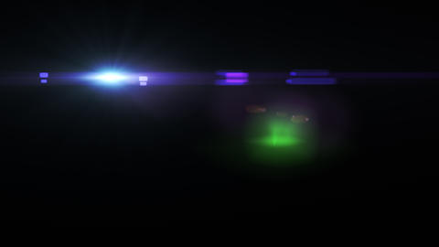 Digital lens flare with bright light Animation