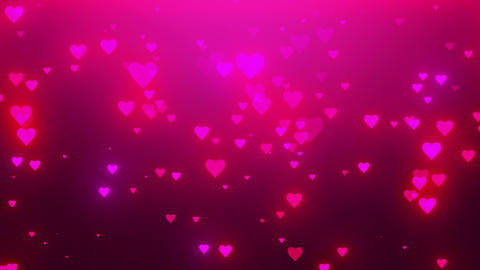 Glamor rain. Romantic pink background with shiny hearts.… Stock Video Footage