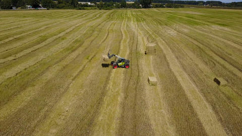 Agricultural Machines Working In The Field Live Action