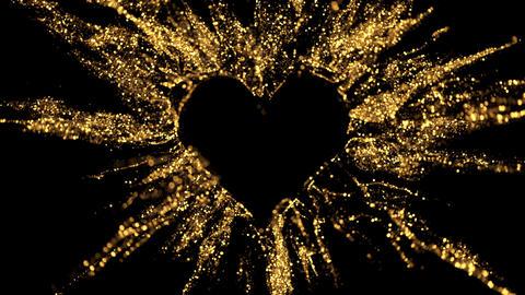 Love heart shaped Valentine's Day glitter burst explosion alpha copy space 4k Animation