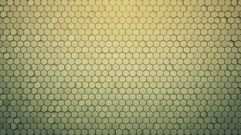Background with glossy hexagons loopable 3D render Animation