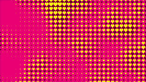 Hearts Abstracts as a Valentine's Day holiday motion backdrop loop Live Action