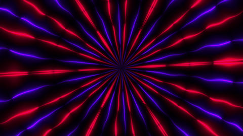 Abstract neon kaleidoscope background, 3d render computer generated background Live Action