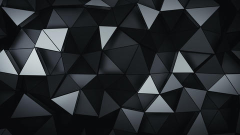 Multilayered polygonal black structure seamless loop 3D render animation Animation