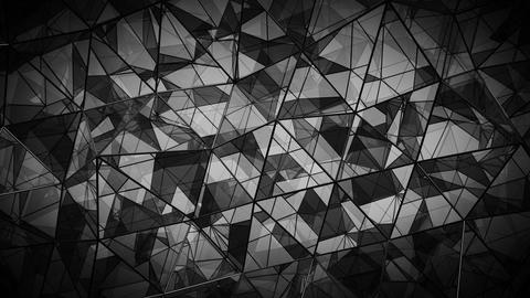 Futuristic polygonal black glass shape seamless loop 3D render animation Animation