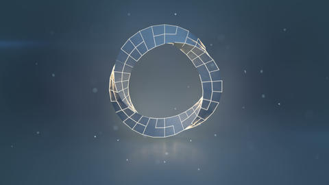 Twisted circle sci-fi shape loopable 3D render animation Animation