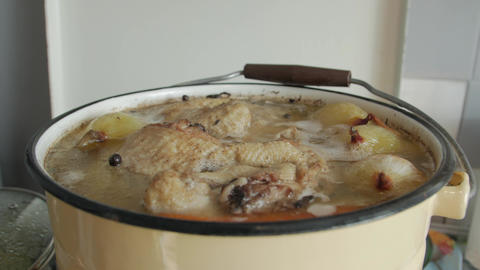 Boil Chicken Cooked Live Action