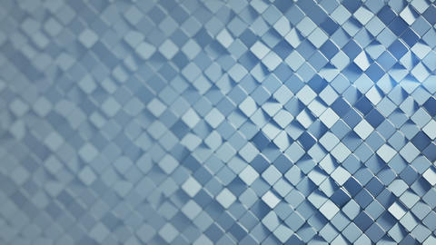 Grey rhombus pattern surface 3D render loopable animation Animation