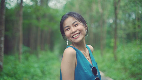 Portrait of Thai Girl in forest Live Action