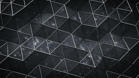 Triangular black surface with sci-fi texture seamless loop 3D render animation Animation