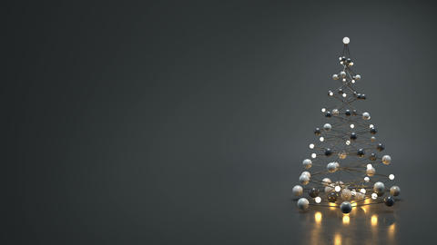 Christmas tree in futuristic technology style 3D render loopable animation Animation