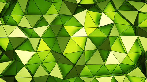 Green space with triangular polygons seamless loop 3D render animation Animation