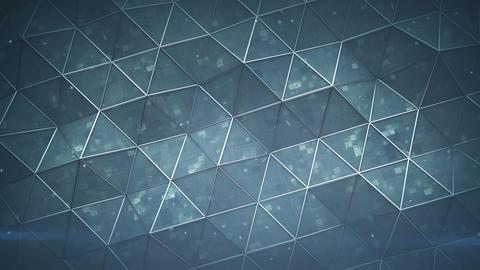 Futuristic polygonal shape seamless loop 3D render animation Animation
