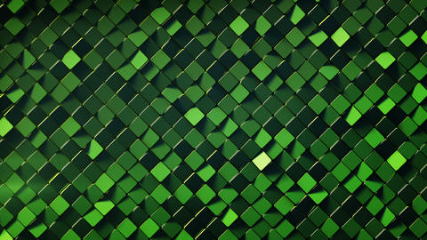 Green wall with rhombus shapes 3D render loopable animation Animation