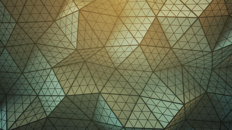 Distorted low poly shape seamless loop 3D render animation Stock Video Footage
