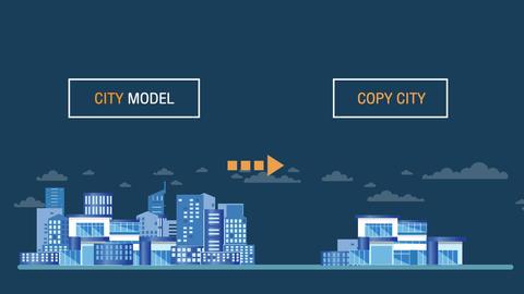 Smart city model technology concept Animation