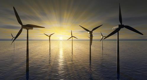 The Wind turbines Photo