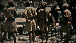 Aden Protectorate Levie soldiers dinner vintage film HD 0128 Footage