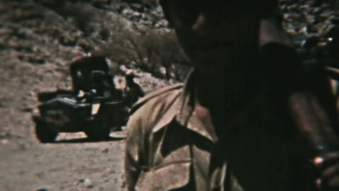 Aden Protectorate Levie soldiers water vintage film HD 0128 Footage