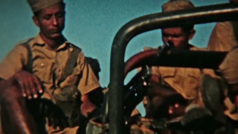 Aden Protectorate Levies military truck weapons Vintage Film HD 0127 Footage
