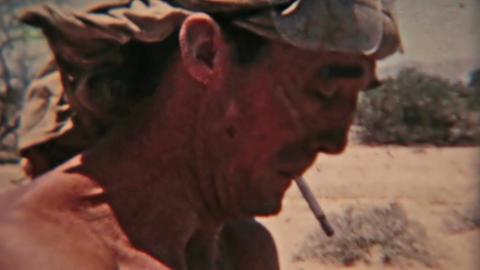 Aden Protectorate convoy to Atag vintage 8mm film HD 0127 Footage