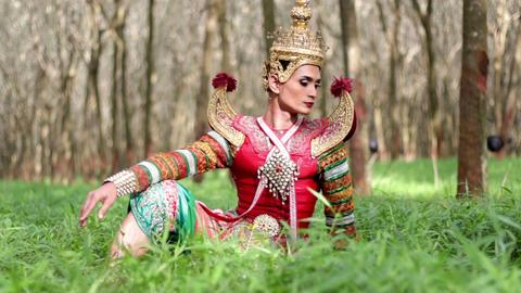 Supreme thai mask or Khon dance drama thai style Live Action