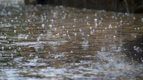 Dangerous weather, rain and hail Filmmaterial