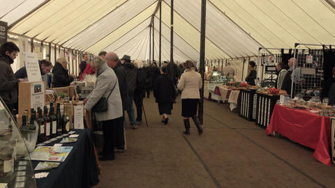 Audley House England craft fair celebration 4K Footage