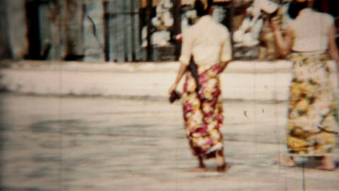 Bangkok Thailand Circa 1960 vintage film Grand Palace HD 0077 Footage