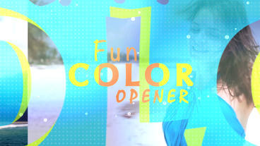 Fun Colors Opener - Apple Motion 5 and Final Cut Pro X template Apple Motion Template
