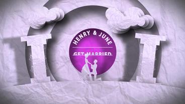 Paper Wedding Plantilla de After Effects