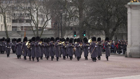 Buckingham Palace London Changing of the Guard part 1 4K Footage