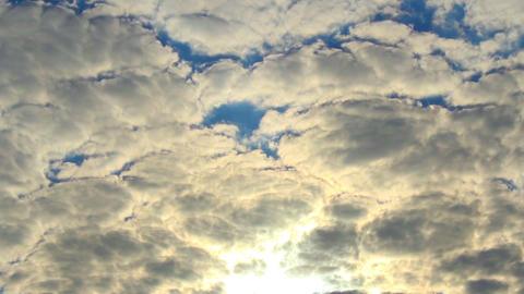 Cloud timelapse sun rays through cloudy sky Footage