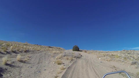Climbing desert trail in 4x4 ATV off road vehicles recreation HD 340 Footage