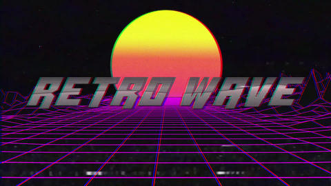 Retro Wave Title Motion Graphics Template