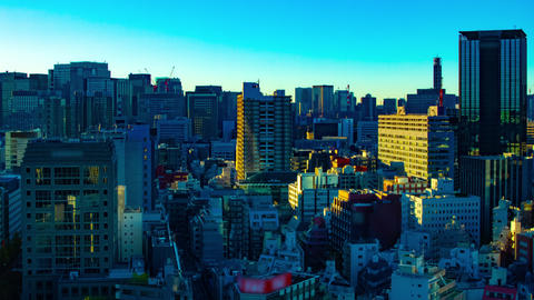 A timelapse of cityscape at the urban city in Tokyo medium shot high angle zoom Live Action