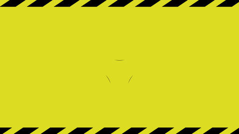 Biohazard symbol on yellow background. Symbol of chemical contamination Live Action