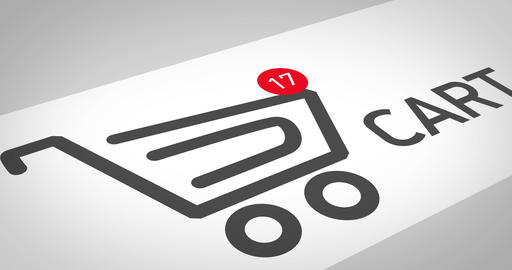 Animation of a shopping basket on a site in an online store. Shopping online Live Action