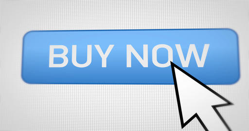 Animation: a button on the buy now website. Buy new products with a single Live Action