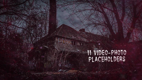 Scary Parallax Slideshow Trailer After Effects Template