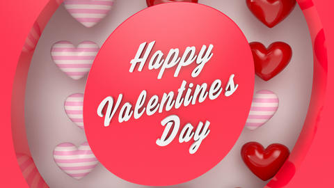 Animated template with the inscription Happy Valentine's Day Animation