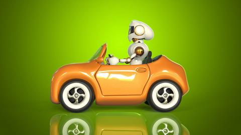 Robot driving Animation