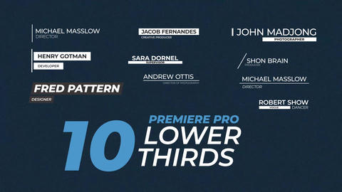10 Lower Thirds Titles (MOGRT) Motion Graphics Template
