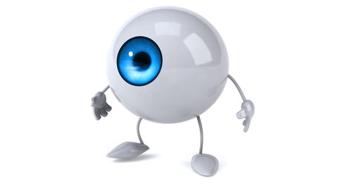 Eye walking Animation