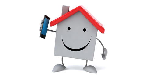 Fun house with phone Animation