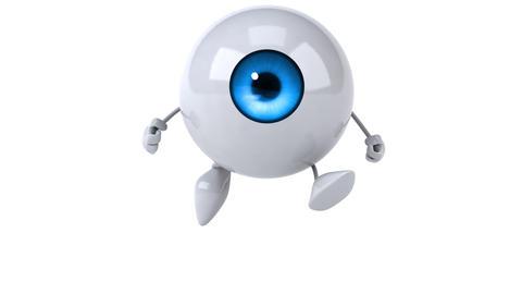 Eye running Animation